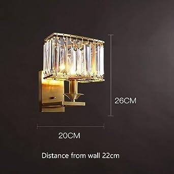 GYBYB Crystal Deco Apliques Nordic Aplique LED Moderno Cobre Wandlamp Escalera Dormitorio Lámparas Creativas Al lado de Aplique Lámparas @ A_Nature_White: Amazon.es: Iluminación