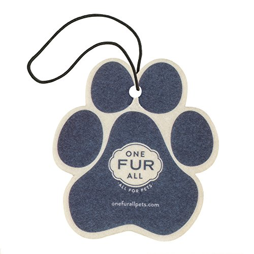 One Fur All Pet House Car Air Freshener, Pack of 4 - Moonlight - Non-Toxic Auto Air Freshener, Pet Odor Eliminating Air Freshener for Car, Ideal for Small Spaces, Dye Free Dog Car Air Freshener ()