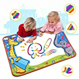 Large Aqua Magic Doodle Mat, Water Doodle Mat,Water Drawing Mat Pad with 2 Water Pens Kids...