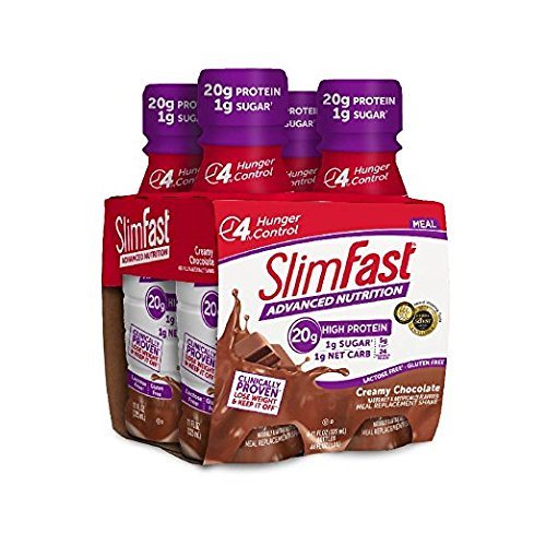 SlimFast Advanced Creamy Chocolate Ready to Drink Shakes 3Pack (15 pk EacH) by Slim-Fast