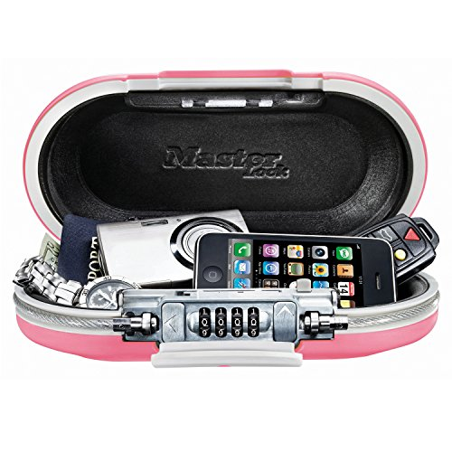 Master Lock Personal Safe, Set Your Own Combination Portable SafeSpace, 9-17/32 in. Wide, Pink, ()