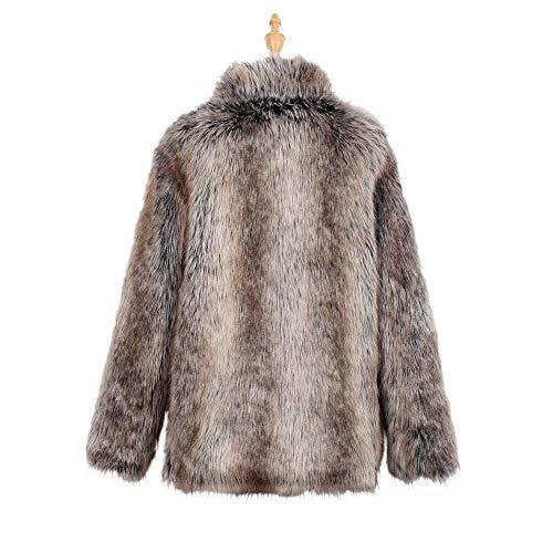 Coat Pelliccia Eleganti Giorno Invernali Ragazza Taglie Giacca Finta Fashion Gestreift Forti Donna Caldo Chic Comodo Cappotti Casual Cappotto Vintage nqpZnFxH