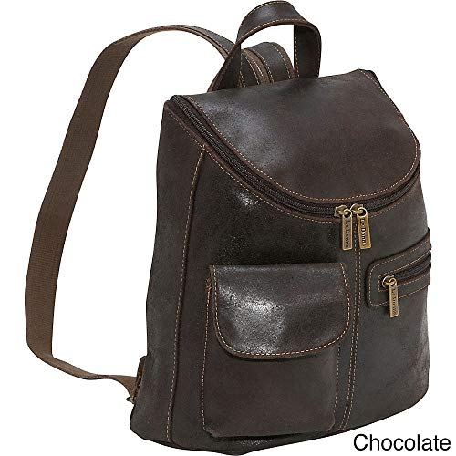 - Le Donne Leather Distressed Leather Womens Backpack/Purse (Chocolate)