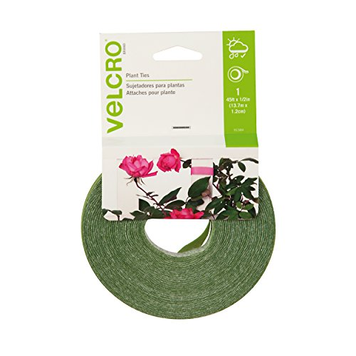 VELCRO Brand – 45′ x 1/2″ Adjustable Plant Ties For Gardens and Gardening – Green