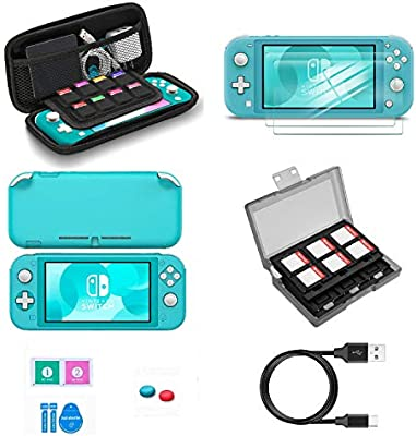 Switch Lite Accessories Vokoo Nintendo Switch Lite Case Protective Cover Case Switch Lite Screen Protector Sd Card Case And Usb C Charging Cable