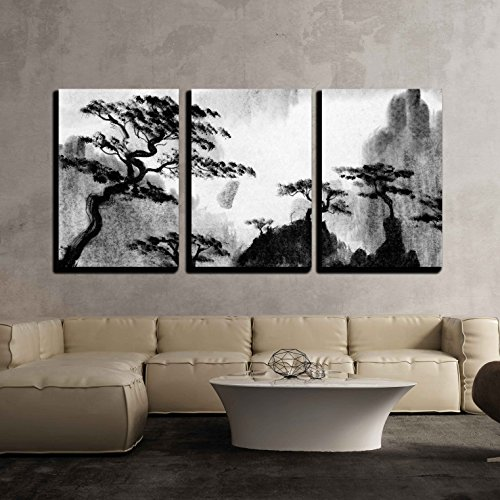 Pine Trees and Mountains x3 Panels