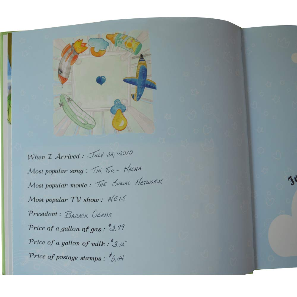 Memories Made for Life and for Parents to Record Photos and Milestones Sharebear Baby Journal Memory Book Ink pad Included.