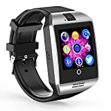 Bluetooth Smart Watch Q18 ZRSJ Touch Screen Smartwatch with Camera SIM/TF Card Slot Sleep Monitor Pedometer Fitness Tracker Smartphones for Android Smartphones IOS Samsung Motorola Men Women Kids Boys Girls (Silver)