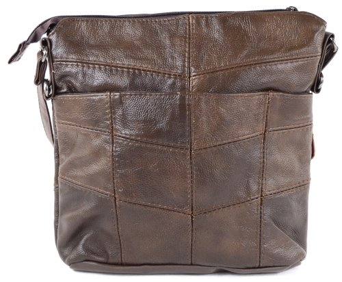 Dark Brown Cowhide Leather Fawn or Dark Bag Shoulder Brown Black Ladies Tan WZXzwxg