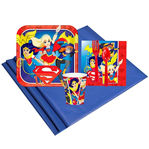 Wonder Pets Party Pack (DC Hero Girl Childrens Birthday Party Supplies - Tableware Party Pack (8))