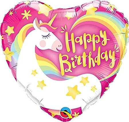 """Qualatex Birthday Pink /& Black Mini 9/"""" Foil on Stick"""