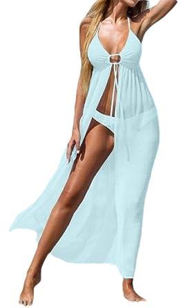 ShuangRun Traje de baño Largo para Mujer, Vestido de Playa ...
