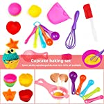 Kids Baking Set Real Cupcake Baking Supplies Silicone Cake Decorating Kit,Perfect for Girls Teens Toddlers Beginners Teenagers 9 SAFE AND EASY TO CLEAN:A Christmas gift hit,fun kids baking kits!Made of high quality food grade silicone material that design to be non-stick and dishwasher safe.These bake set are real baking tools. Recyclable, third-party tested BPA free.cupcake kit safe for children ages 5 and older KIDS REAL COOKING BAKING STARTER SET: These value attractive price baking utensils set including cupcake baking set,baking decorating set,cookie cutters and chocolate molds set PERFECT SIZE AND GIFTS SET:Very cute and vibrant color set and size is perfect for kids starter bakers!Mini cupcake cups Perfect baking supplies for kids.Set is red gift box. gift set for girls and boys who is beginning to cook