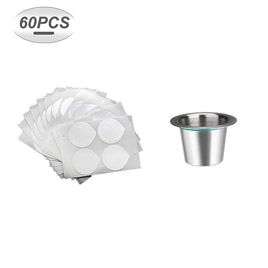 Cápsula de café reutilizable rellenable Hengory para máquinas ...