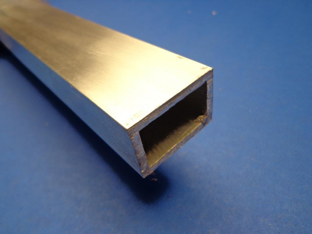 "1/"" x 2/"" x 12/""-Long x 1//8/"" Wall 6063 T52 Aluminum Rectangle Tube--/>1/"" x 2/"" x .125"