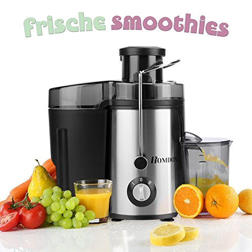 Electric Juicer, Wide Mouth Juicer Machine with Juice Jug 350 Watt Centrifugal Juicer Powerful Fruit Machine, 2 Speed Setting Premium Food Grade Stainless Steel(US STOCK)