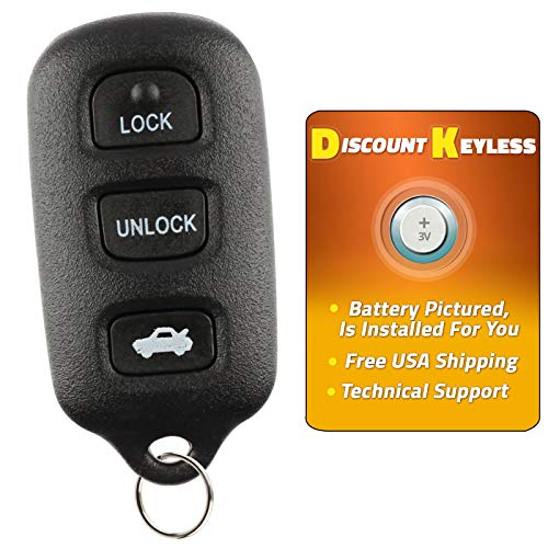 Discount Keyless Replacement Key Fob Car Remote For Toyota Camry Corolla Sienna Solara GQ43VT14T