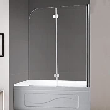 This Bathtub Glass Door Features A Unique Bi Fold Design. The  Semi Frameless Clear Glass Style Gives Out A Contemporary Sleek Look.