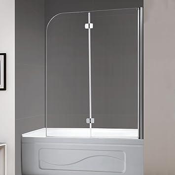Width, Frameless Hinged Tub Shower Door Swing Bathtub Screen,