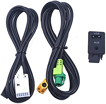 Aux Schalter Usb Wireless Adapterkabel Für Bmw 3er E87 5 E90 E91 E92 X5 X6 Auto