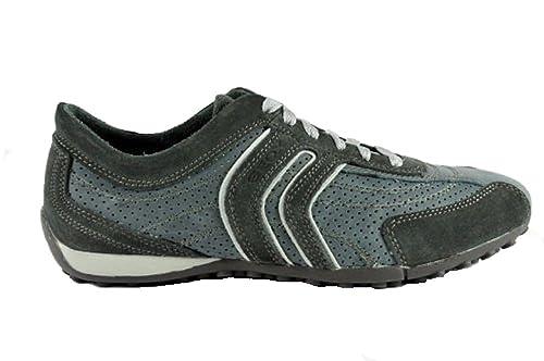 Geox - Geox sneakers estiva - Geox U Bis n waxed 01F4N - Grigio  Blu -  TAGLIA 46 EU  Amazon.it  Scarpe e borse f02ec7bf35f