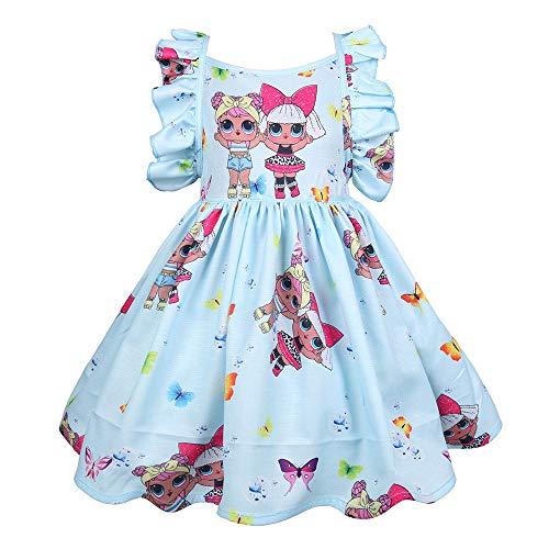 ALAMing Meisjes Kids Prinses Jurk LOL Verjaardag Tutu Surprise Dress Party Outfit