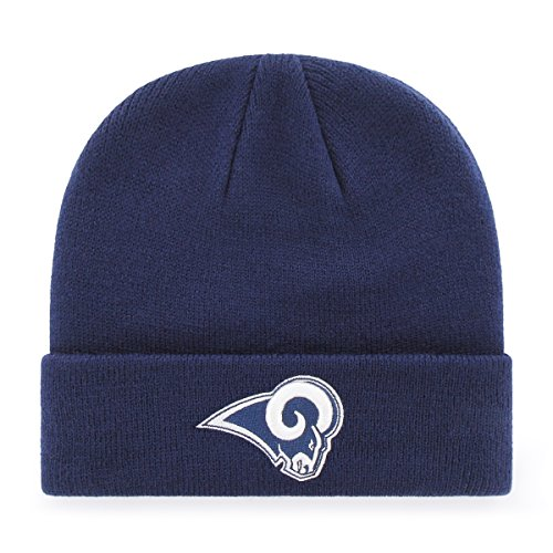 NFL Los Angeles Rams Men's Raised OTS Cuff Knit Cap, Team Color, One - Gear Nfl