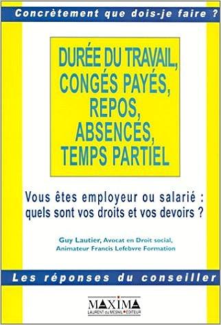 Telechargements De Manuels Pour Kindle Duree Du Travail Conges