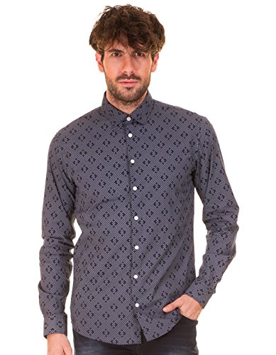 CASUAL FRIDAY Printed Man Shirt by (Blue)
