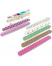 10 stuks nagelvijlen, voor vingernagels en teennagels, dubbelzijdig schuurpapier, nagelvijlen, kleurrijk
