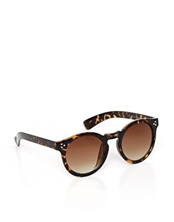 9f236437e846 M:UK Womens Camden Vintage Round Sunglasses size One Size in Brown: Amazon. co.uk: Clothing