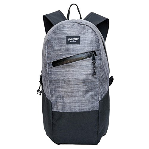 Flowfold Optimist Mini Backpack Ultra Lightweight Minimalist Daypack, 10L (Heather Grey)