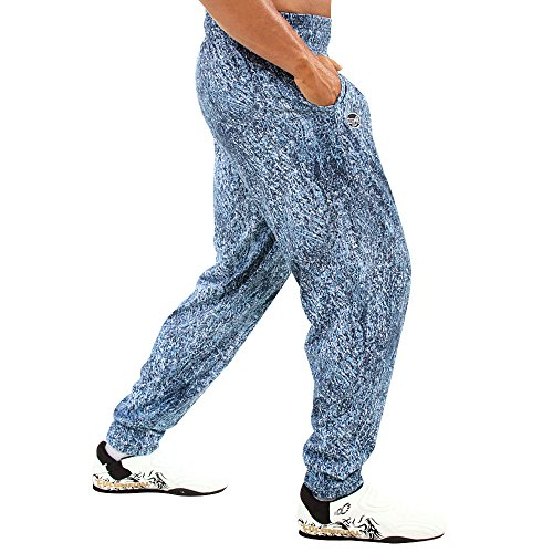 Otomix Men's Baggy Bodybuilding Workout Pants Stonewash (Large)