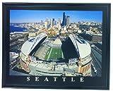 Frame Football Seattle Seahawk Aerial Stadium Photo Qwest Field F7576A