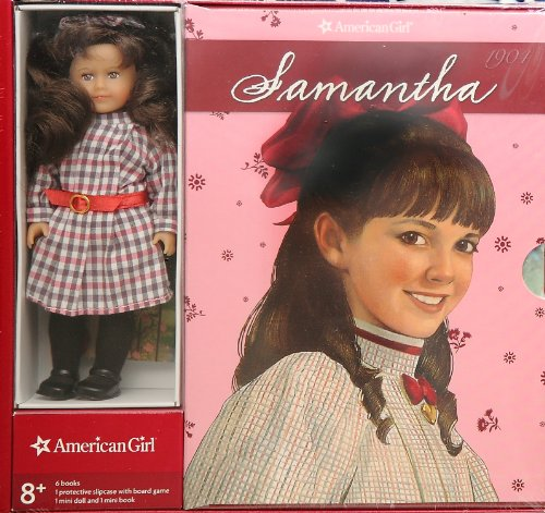 American Girl Mini Samantha with 6 Books and Board Game. (American Girl Doll Samantha Mini)