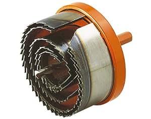 wolfcraft 2220000 - sierra de corona profesional, para madera, plásticos, yeso laminado, metales no ferreos Ø 28,35,50,68,75 mm profundidad de corte de 40 mm