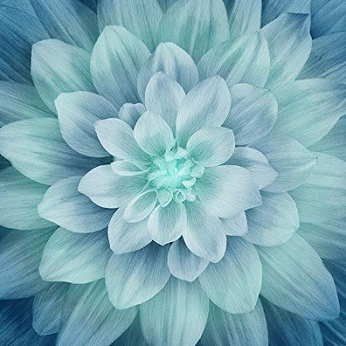 Dream Big - Turquoise - Digital Panel -Large Floral -by Hoffman Fabrics