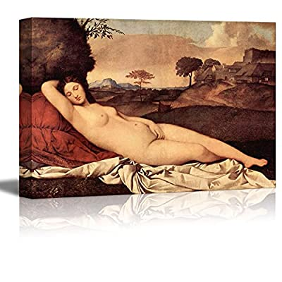 Sleeping Venus by Giorgione Giclee Canvas Prints Wrapped Gallery Wall Art | Stretched and Framed Ready to Hang - 24