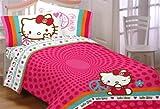 Hello Kitty Peace Kitty Twin Sheet Set