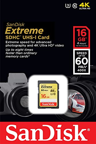 619659122843 - SanDisk Extreme 16GB UHS-I/U3 SDHC Memory Card Up To 60MB/s Read-SDSDXN-016G-G46 [Older Version] carousel main 3