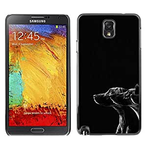 YiPhone /// Prima de resorte delgada de la cubierta del caso de Shell Armor - Black White Dogs Puppies Mutt Mongrel - Samsung Galaxy Note 3 N9000 N9002 N9005