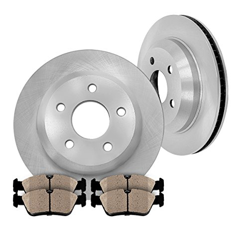 REAR 299.73 mm Premium OE 5 Lug [2] Brake Disc Rotors + [4] Ceramic Brake - Brake Cabriolet Audi