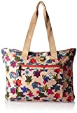 Vera Bradley Women's Lighten up Expandable Tote, Falling Flowers Neutral
