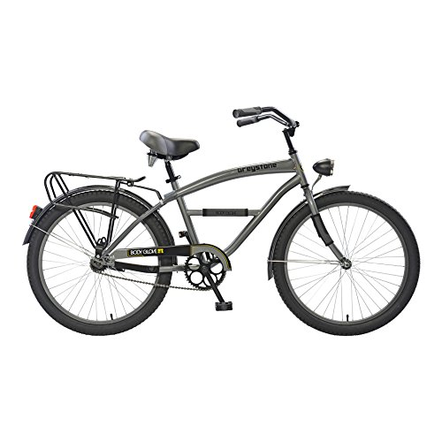 Body Glove Greyston Cruiser Bike, 24 inch wheels, 17 inch frame, Boy's Bike, Gunmetal (Boys Cruiser)