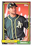 Matt Olson baseball card (Oakland Athletics) 2017 Topps Archives #242 Rookie