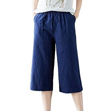 Sylar Pantalones Mujer Cintura Alta Y Comodos, Moda Color Sólido ...