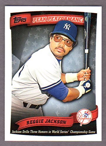 Reggie Jackson 2010 Topps (Peak Performance) *Jackson Drills Three Homers in World Series* (Yankees)