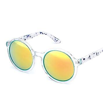 QZHE Gafas de sol Gafas De Sol Mujer Gafas Redondas Gafas De ...