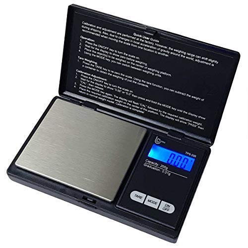 Tesso Digital Mini Pocket Scale High Accuracy Jewelry/Food/Medicine Scale, Electronic Gram Scale with Slim Design (200g x 0.01g)
