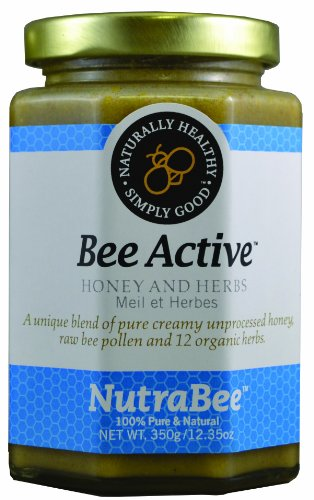 Bee Active - Pure Honey, Bee Pollen and 12 Organic Herbs
